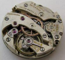 adj. for parts, diameter 22 mm early Gruen round watch movement 15 j.