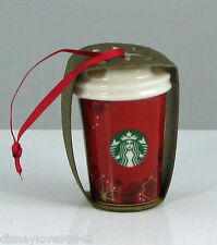 Starbucks Christmas Ornament Annual Red Hot Cup Holly Holiday 2013