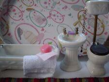 More details for dolls house bathroom suite ~ porcelain 12th scale