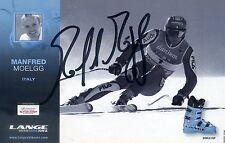 Original Autogramm Skirennläufer Manfred Mölgg Südtirol Olympische Spiele