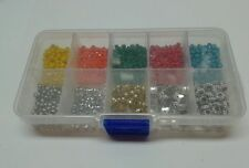 Jewelry making supplies kit 1000+ pcs in storage box faceted beads and findings