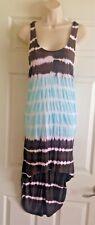VENUS Tie Dye Brown Blue Cross Back Maxi Dress Size Medium