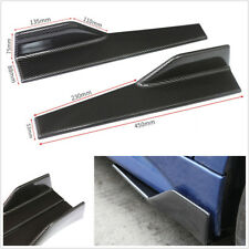 2 X Carbon Fiber Color Car SUV Side Anti-scratch Skirt Spoiler Rocker Splitters