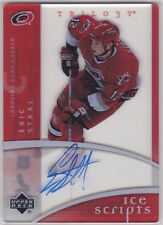 2007 07-08 Upper Deck Trilogy Ice Scripts #ISES Eric Staal on-card autograph