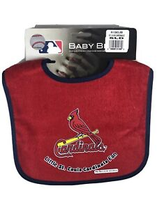 "MLB St. Louis Cardinals BIB Baby Infant Red & Blue ""Little Cardinals Fan"" NEW"