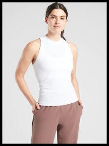 Athleta NWT Women's Renew Racerback Tank Size XSmall Color White