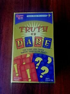 UNIVERSITY GAMES Truth or Dare;Travel Game Collection;Card Deck in Box; Car Play