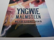 Yngwie Malmsteen Blue Lightning Autographed Signed LP Postcard Beckett Certified