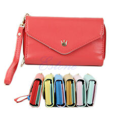 Envelope Purse Wallet Phone Case Multifunctional for iPhone 4s 5 Galaxy S2 S3