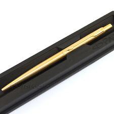 PARKER Classic Slimline Stainless Steel Powdered Gold GT Ball Pen -Jotter Family