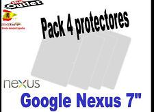 "**Pack 4 Protectores de pantalla para Google Nexus 7 7"" universal asus"