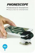PHONESCOPE.Lente macro 60 aumentos. Apto para todos los smartphones.Fácil uso.