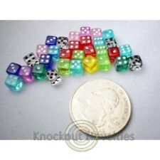 Assorted Colored Dice : 6 sides : Htube : 5mm  30 per package Fun Dice Game Play