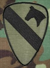 US Army Shoulder Patch 1st Cavalry Division Vietnam OG-107 Subdued First Team