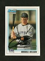 2011 Bowman RUSSELL WILSON Rookie Card RC #BDPP47 - Rockies/Seahawks
