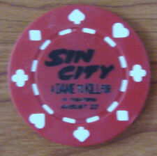 SIN CITY 2 Poker Chips SET OF 3 SDCC 2014 San Diego Comic Con Rare NEW Red