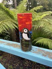 Anita Harris Art Pottery Cylinder Shape Puffin Vase