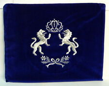 Lions Torah Crown Soft Velvet TALLIT BAG Tallis Prayer Shawl Cover for Synagogue