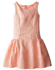 New Girls Bonnie Jean sz 14 Coral & GOLD Bow-Back Dress Holiday Special Occasion