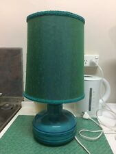 Vintage Retro 60s Teal Table Lamp , Mid Century  Lounge Lamp Med, Bitossi Style