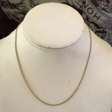 "EternaGold EG Italy 14k yellow gold 16"" chain necklace 1.9g cicle link fancy"