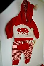Cat And Jack Baby Boy Santa Christmas Outfit 2 Piece Newborn