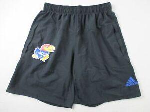 Kansas Jayhawks adidas Shorts Men's Black Poly Used Multiple Sizes