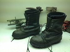 BLACK LA CROSSE DISTRESSED LACE UP WORK CHORE LEATHER ENGINEER DUCK BOOTS 10M