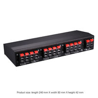 6-way Stereo Speaker Selector Switch Amp Bidirectional Selective Switcher B898