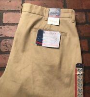 St. Johns Bay Classic Fit Pleated British Khaki Men's Pants Size 40 x 30