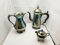 Vintage  Silverplate Tea set of 3 piece Creamer (F.B. Rogers) and Milk Jug