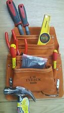 Tyzack 8a Carpenters Nail & Tool Suede 8 Pocket Tool Pouch High Quality Leather