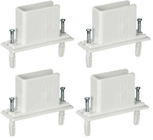 4 Rubbermaid Closetmaid Fast Set Wall End Shelf Shelving Wire Bracket Pre-loaded