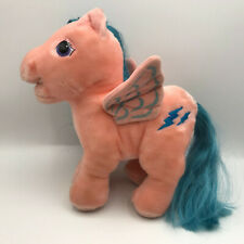 "Vintage Hasbro Softies My Little Pony Pink Pegasus Plush 10"" Stuffed Animal 1984"