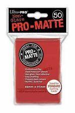 50 PRO MATTE DECK PROTECTORS Red Rosso MTG MAGIC Ultra Pro