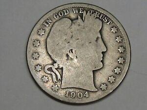 G/AG Better-Date 1904-s US Barber Half Dollar. #23