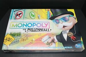 New Monopoly for Millennials Millenials Edition Board Game