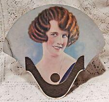 VINTAGE 1920'S ADVERTISING FAN - PEOPLE'S GROCERY STORE - CRETE NEBRASKA
