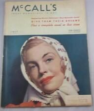 MCCALLS MAGAZINE JULY 1938 BOOTH TARKINGTON ALLENE CORLIS COCA COLA AD
