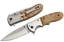 "Personalized Free Engraving 4.5"" Rite Edge Wood Folding Knife"