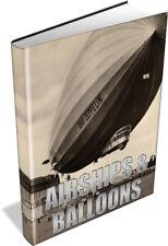 AIRSHIPS 34 Vintage Books - Hot Air Balloons, Zeppelin, Ballooning, Aviation