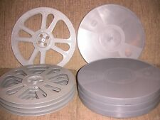 FOUR- 2300ft Goldberg 16mm Plastic reels and archival cans - NEW -