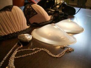 1 Paar Silikon Brüste BH Einlagen Brust Vergrößerung Busen unsichtbar KLAR