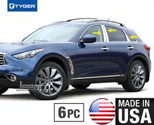 TYGER Fits 2009-2017 Infiniti FX35/QX70 6PC Stainless Steel Pillar Post Trim