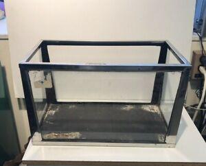 Vintage Metaframe 8 Gallon Aquarium Fish Tank Stainless Steel, Slate,