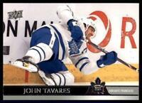 2020-21 UD Series 1 French #171 John Tavares - Toronto Maple Leafs