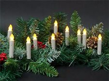 10 Led 3in DripTaper Candle String Lights Clip-On Tree Wreath Mantle Battery 00004000  Nip