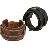 Bracciale fascia uomo braccialetto ecopelle polso polsino accessorio maschile