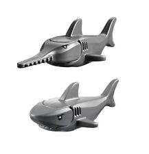 NEW LEGO Shark and Sawfish Dark Grey with Gills and Printed Black Eyes
