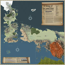 LD52 New Hot Game of Thrones World Map Westeros and Essos 24x24 inches Poster